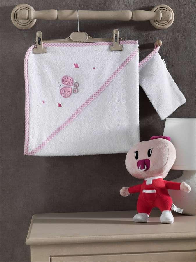 Купить Комплект Kidboo Funny Dream полотенце-уголок и варежка 75x75 см,