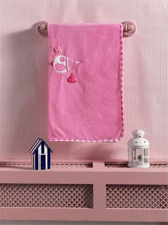Купить Плед флисовый Kidboo Lovely Birds pink, 80x120 см,