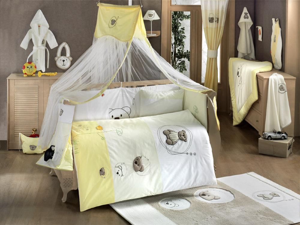 Купить Комплект Kidboo Little Bear Beige-Yellow, 6 предметов,