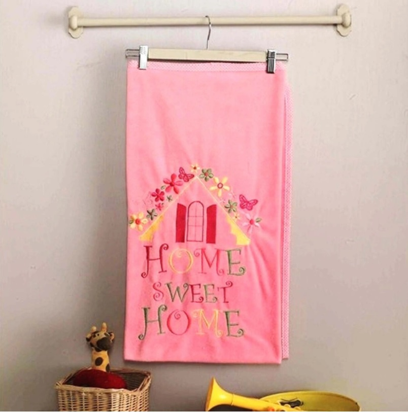 Купить Плед велсофт Kidboo Sweet Home pink, 80x120 см,