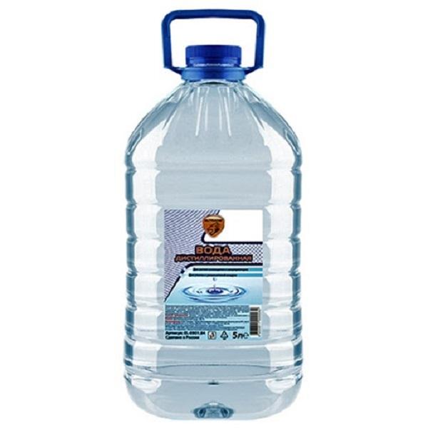 Вода дистиллированная ELTRANS, 5л ПЭТ бутылка