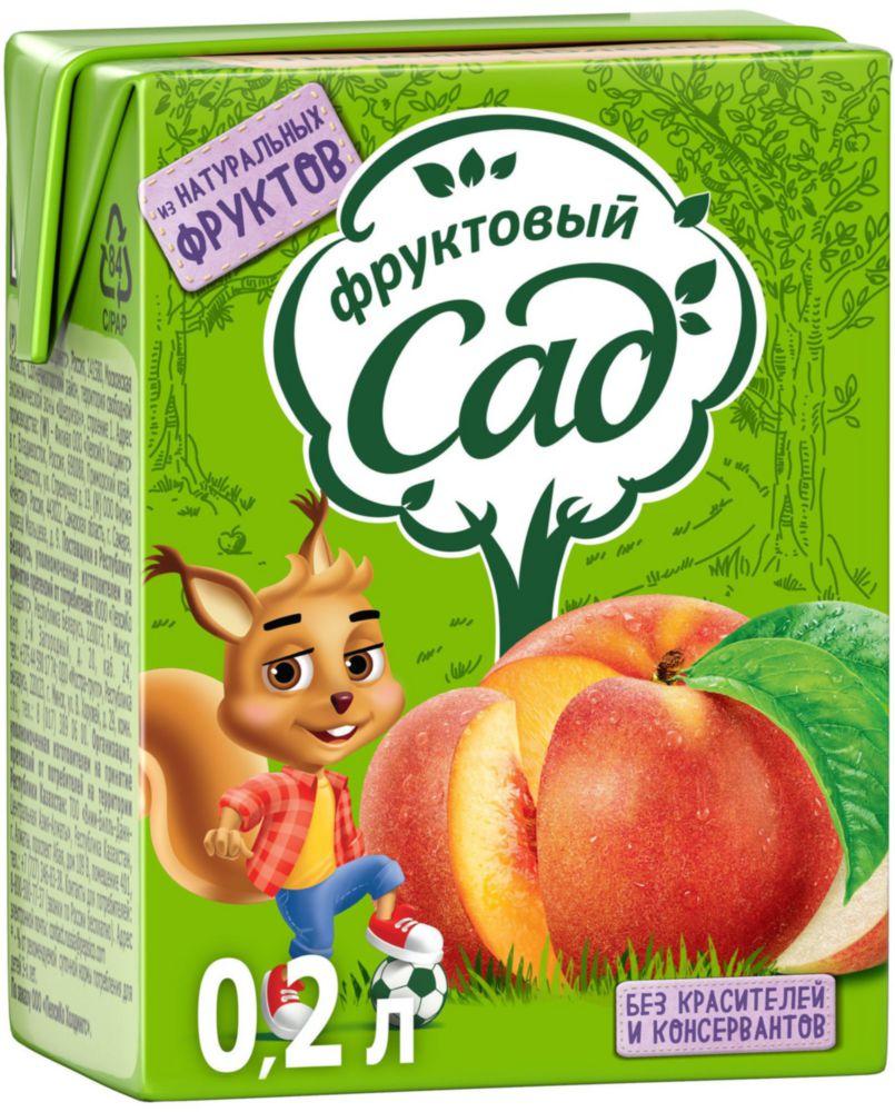 Нектар Фруктовый Сад персик-яблоко 0.2 л фото