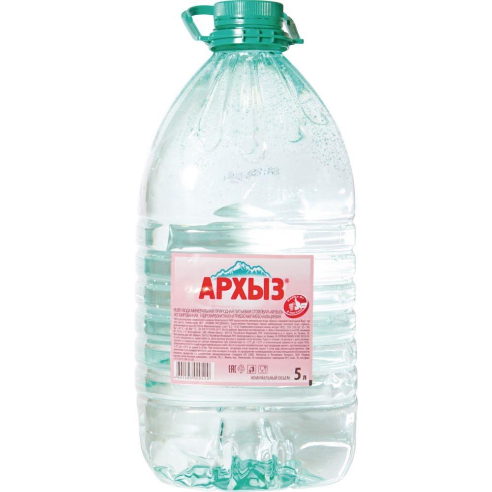 Вода минеральная Архыз негазированная пластик 5 л