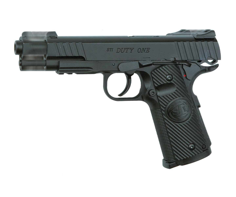 Пистолет пневматический ASG STI DUTY ONE Colt 1911 Blowback металл/черный фото