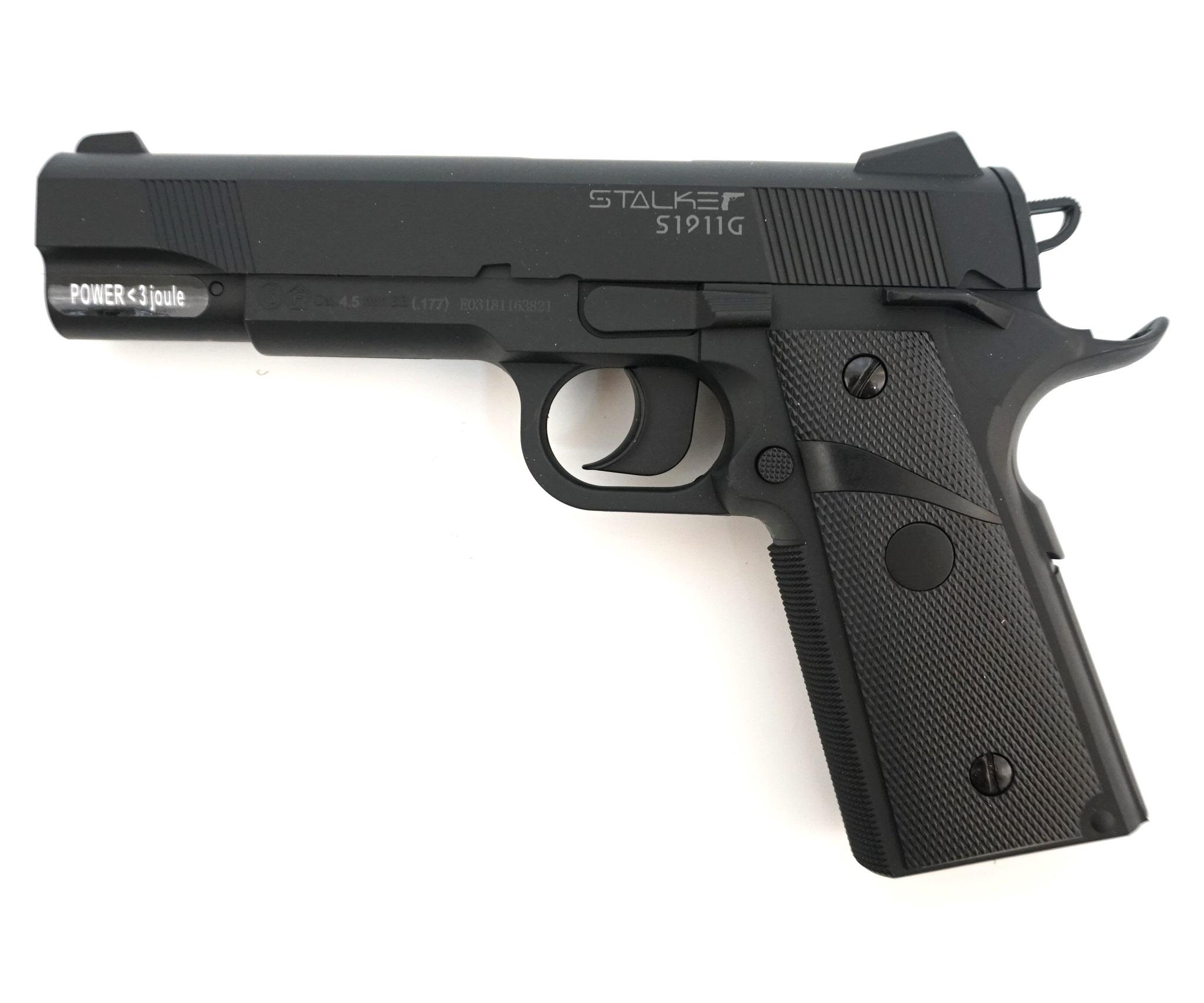 Пистолет пневматический Stalker S1911G (Colt 1911, пластик) 120 м/с фото