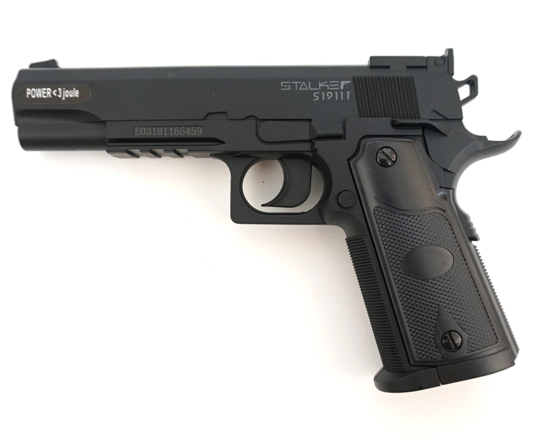 Пистолет пневматический Stalker S1911T (Colt 1911, пластик) 120 м/с фото