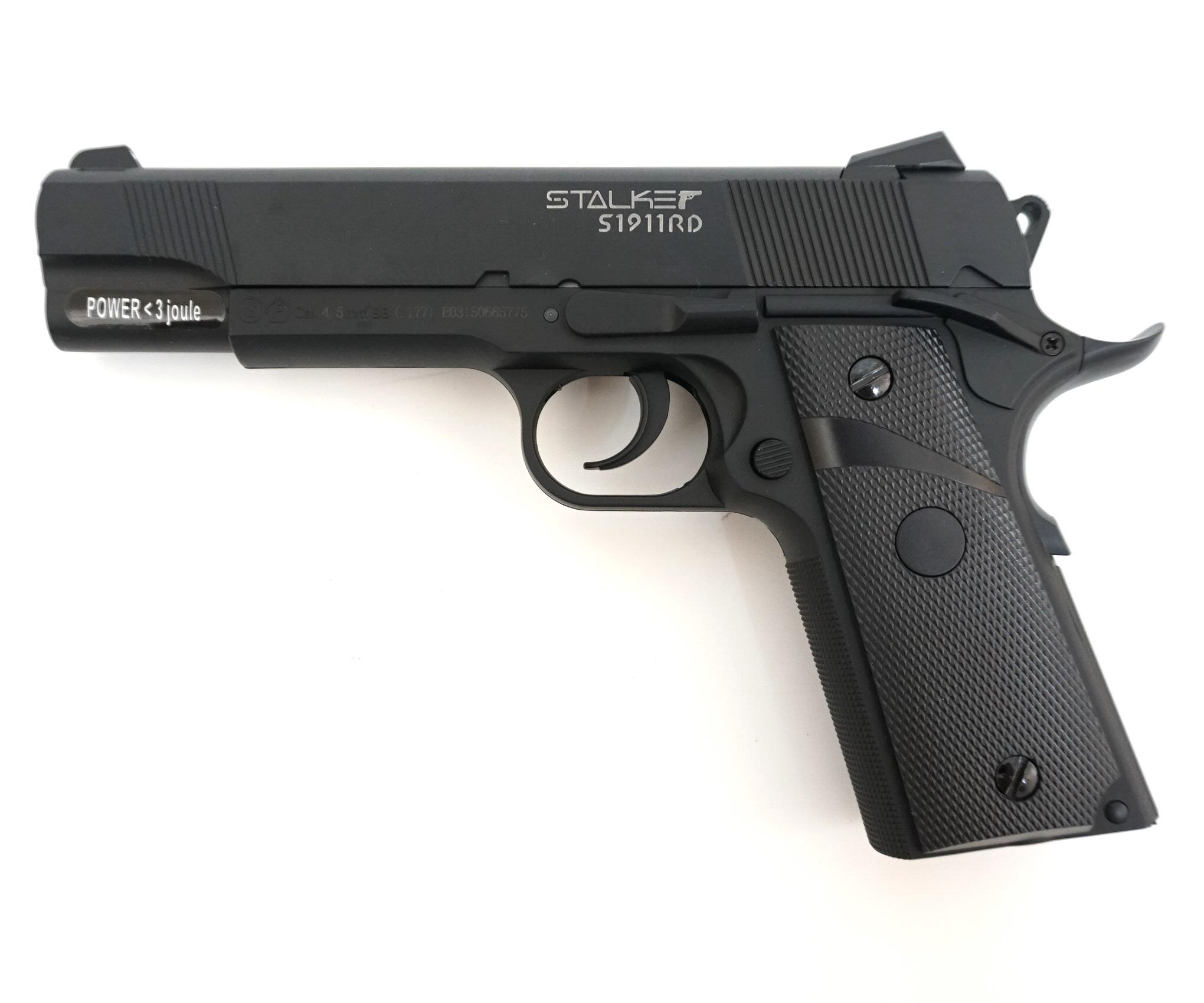 Пистолет пневматический Stalker S1911RD Blowback (Colt 1911, металл/пластик) 120 м/с фото