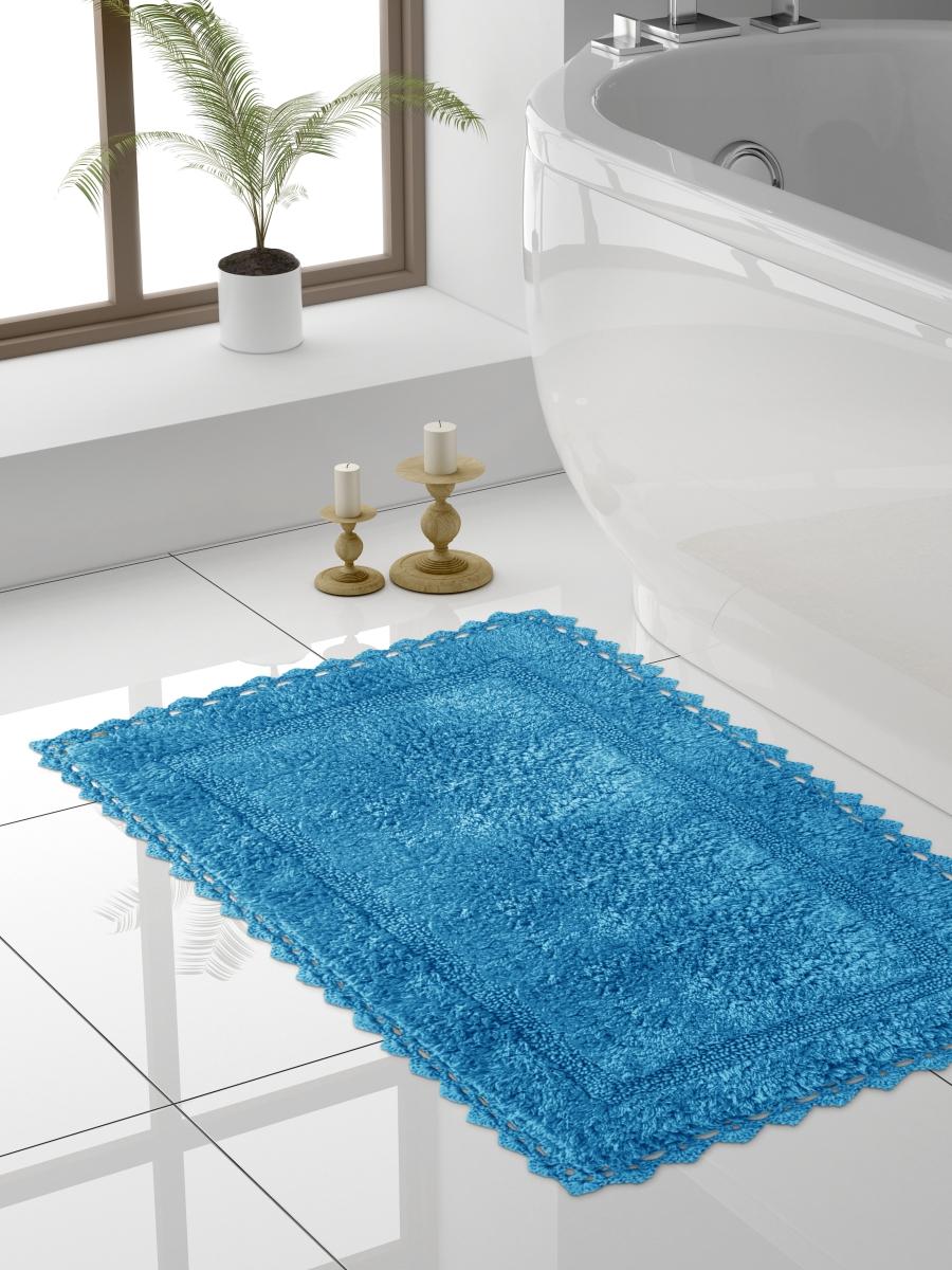 Коврик для ванной 60x100 см, синий DeНАСТИЯ