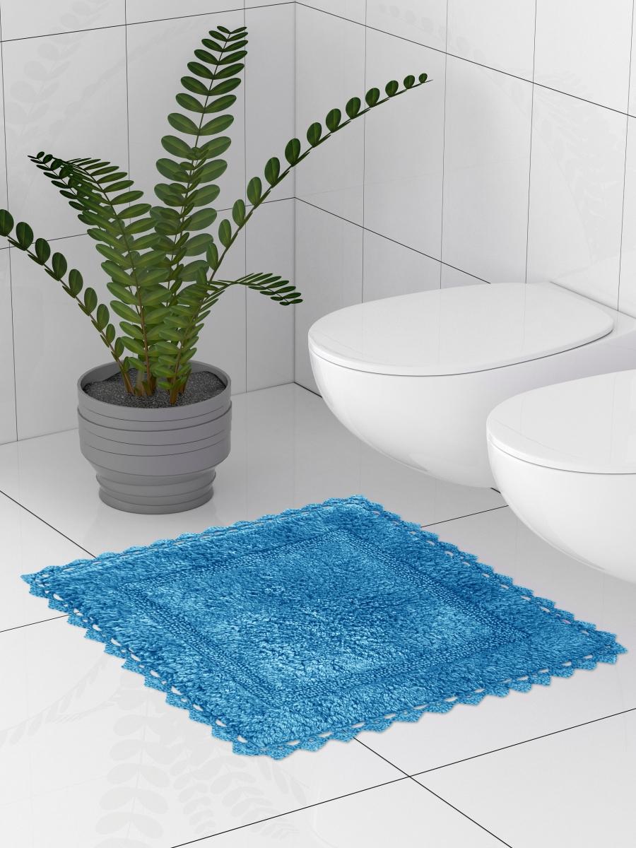 Коврик для туалета 50x50 см, синий DeНАСТИЯ