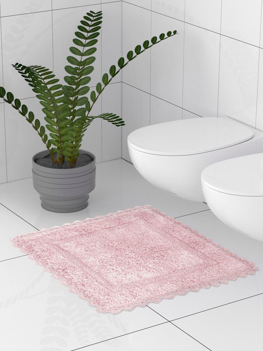 Коврик для туалета 50x50 см, розовый DeНАСТИЯ