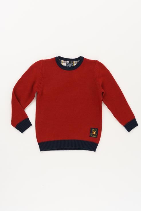 Купить AVAL2873B1_красный, Джемпер Original Marines AVAL2873B1 цв.красный р.104,
