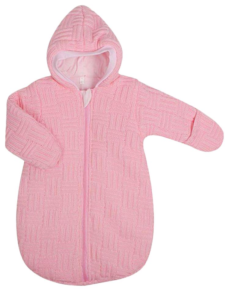 Купить Конверт-мешок для детской коляски Kidboo вязанный розовый, 62 см,