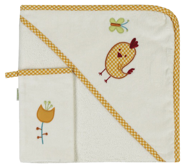 Купить Комплект Kidboo Цыпленок полотенце-уголок + варежка,
