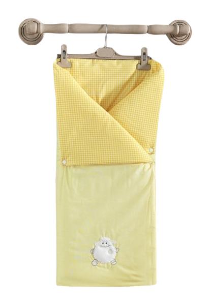Купить Трансформер одеяло-конверт Kidboo Fluffy Sheep желтое,