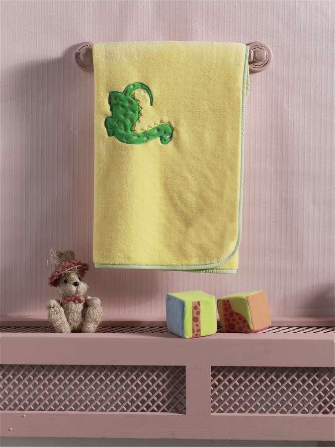 Купить Плед хлопок/велюр Kidboo Baby Dinos, 80x90 см,