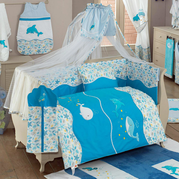 Купить Комплект Kidboo Sea Life Blue, 6 предметов,