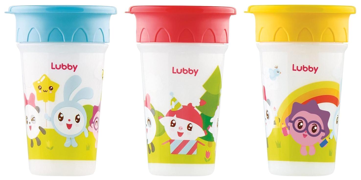 Купить Стакан-поильник Lubby 360 Малышарики от 12 месяцев 270 мл,