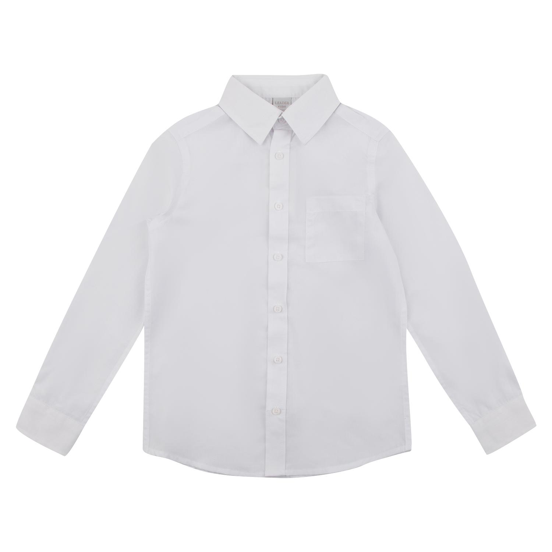Купить GL001005059, Рубашка Leader Kids School School белый р.128,