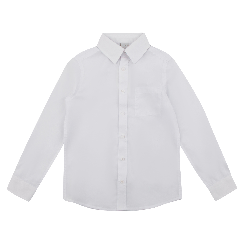Рубашка Leader Kids School School белый р.128