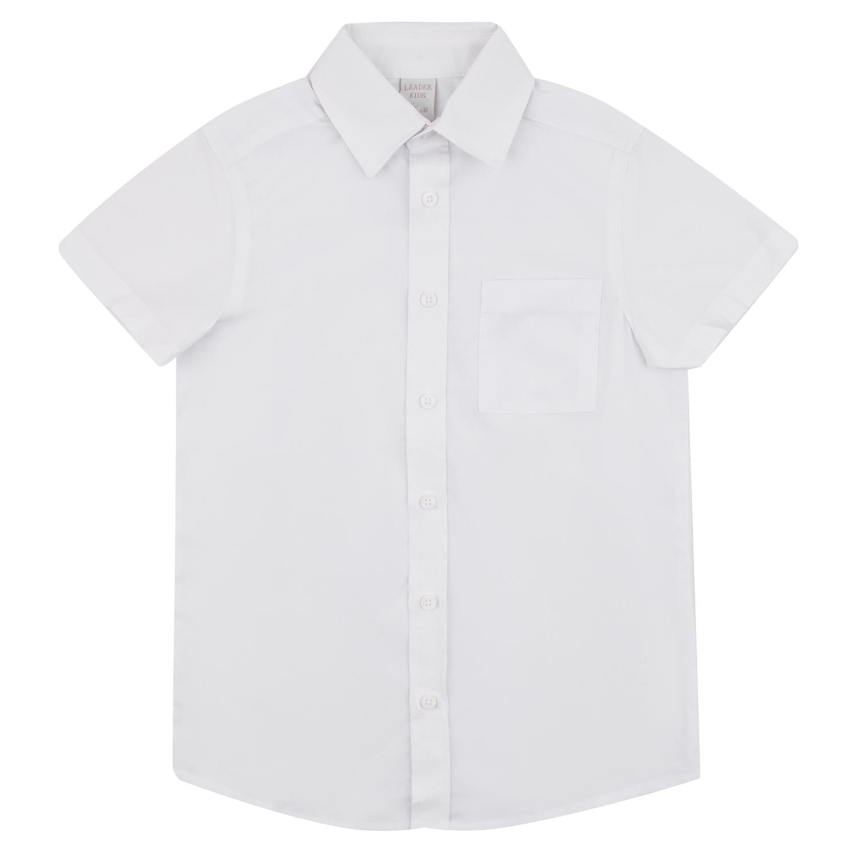 Купить GL001005066, Рубашка Leader Kids School School белый р.128,