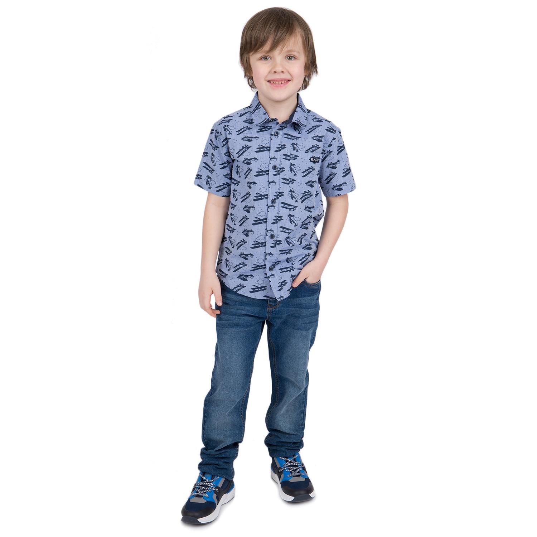 Купить GL001069006, Рубашка Leader Kids серый/голубой р.104,