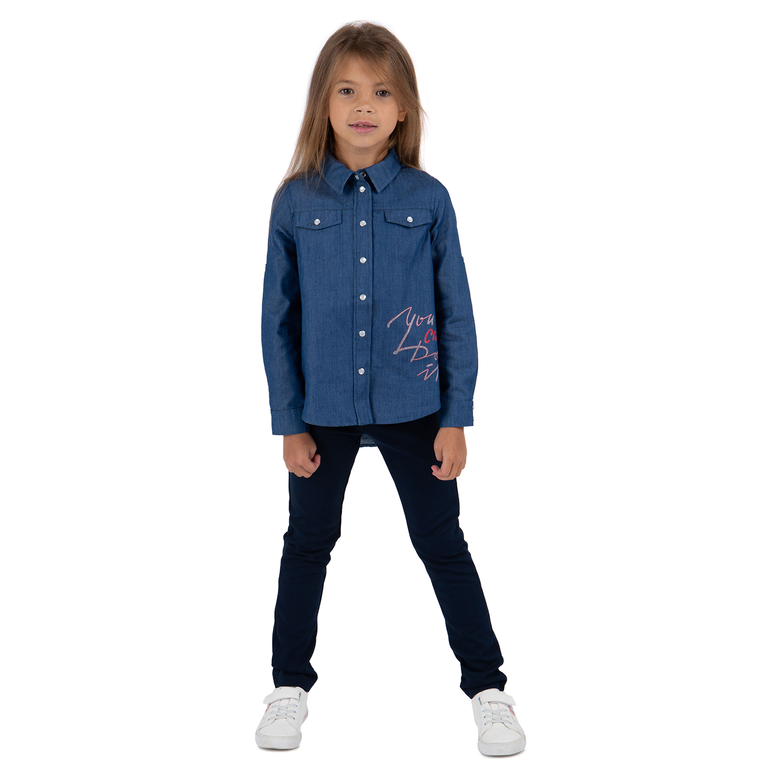 Рубашка Leader Kids Аморе синий р.152
