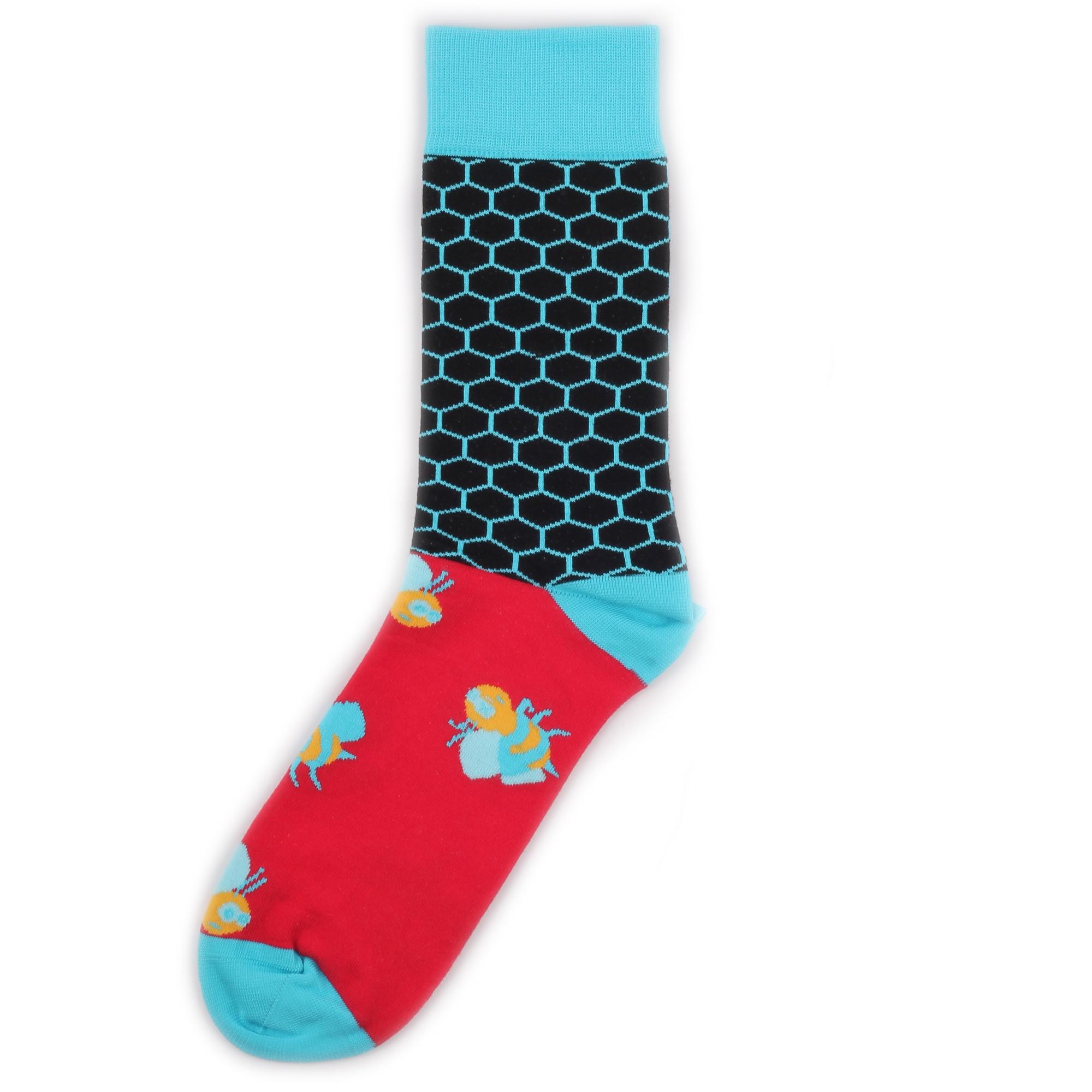 Носки унисекс St.Friday Socks BH_BeesRedBlue разноцветные 39-41
