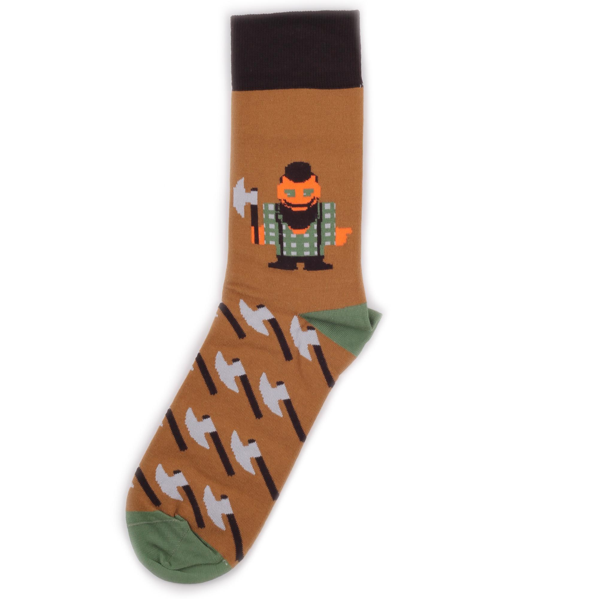 Носки унисекс St.Friday Socks BH_LumberjackBrown разноцветные 36-38