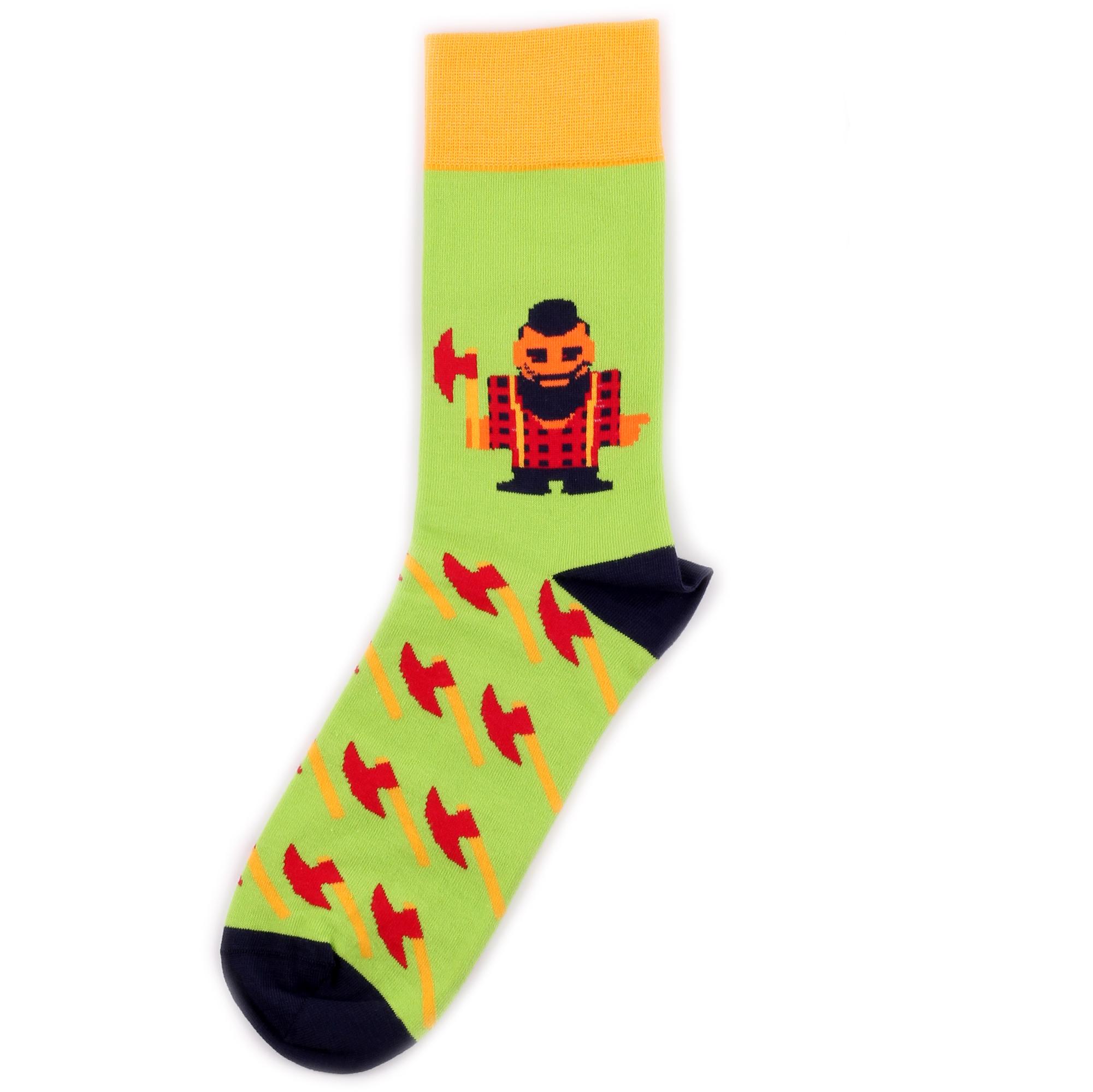 Носки унисекс St.Friday Socks BH_LumberjackGreen разноцветные 42-46