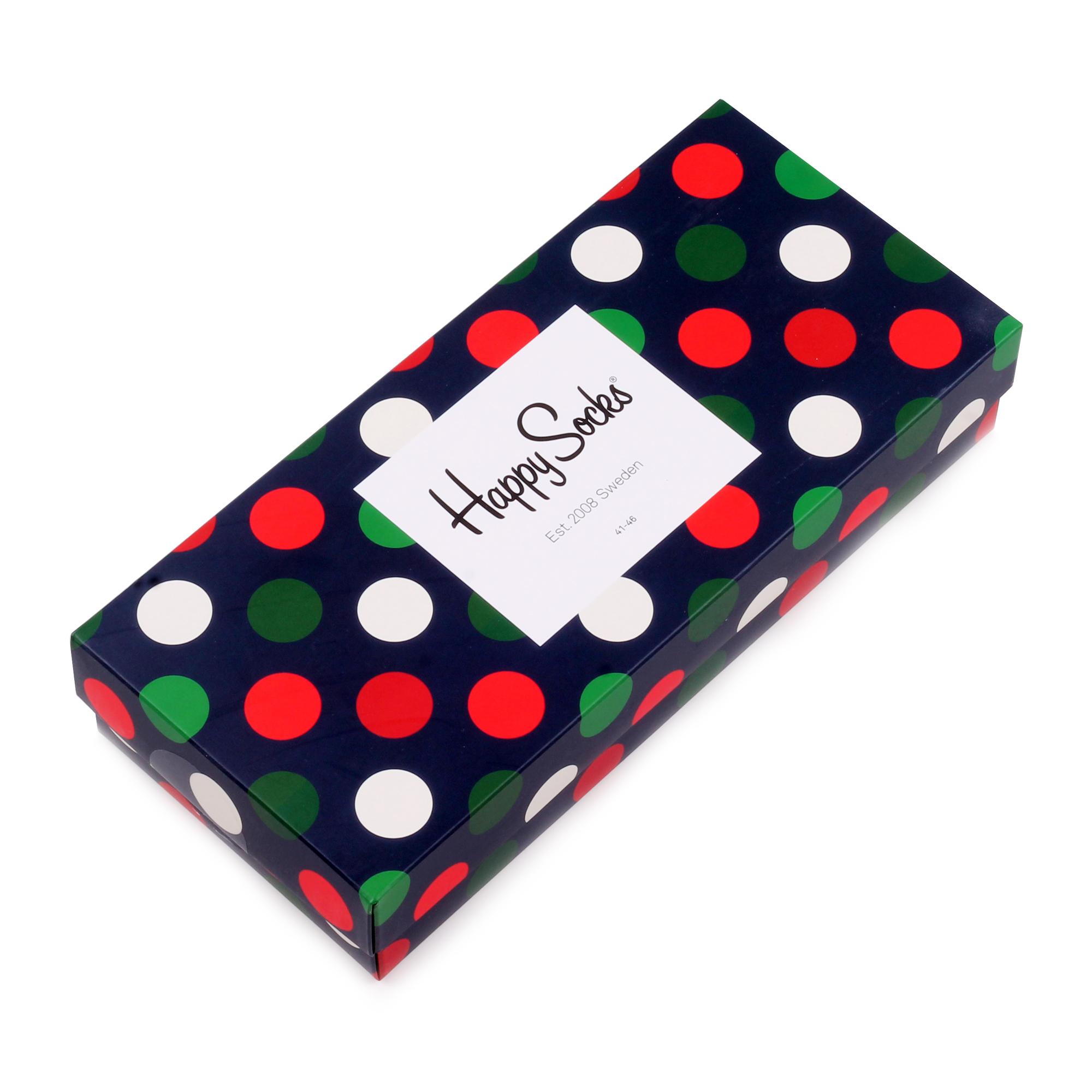 Носки унисекс Happy Socks Happy Socks Набор из 4-х пар носков - Big Dot разноцветные 36-40