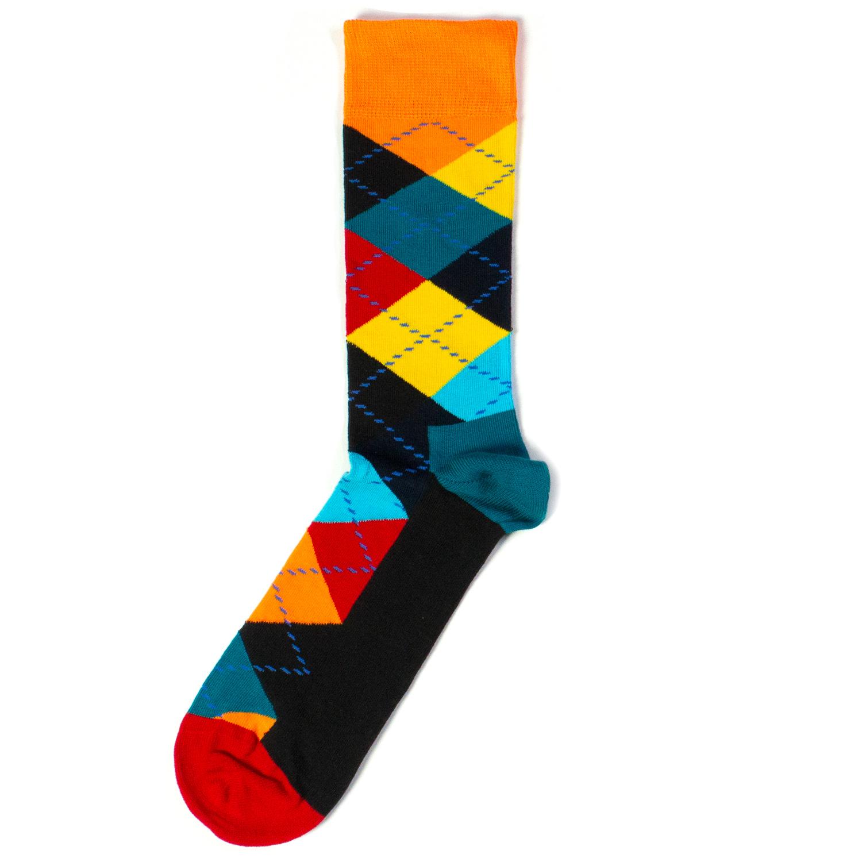 Носки унисекс Happy Socks Happy Socks Argyle - Orange/Blue/Red разноцветные 36-40