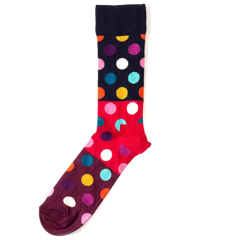 Носки унисекс Happy Socks Happy Socks Big Dot - Block разноцветные 36-40