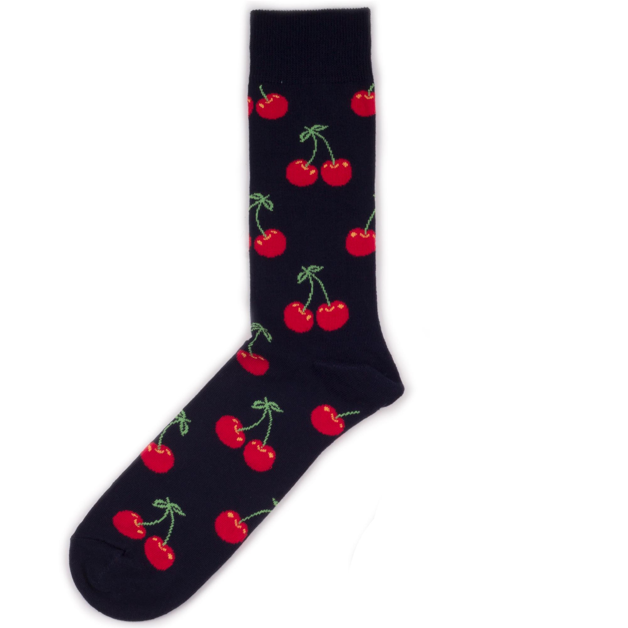 Носки унисекс Happy Socks Happy Socks Cherry - Red разноцветные 36-40
