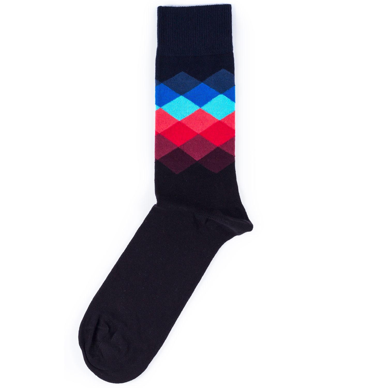Носки унисекс Happy Socks Happy Socks Faded Diamond - Navy разноцветные 36-40