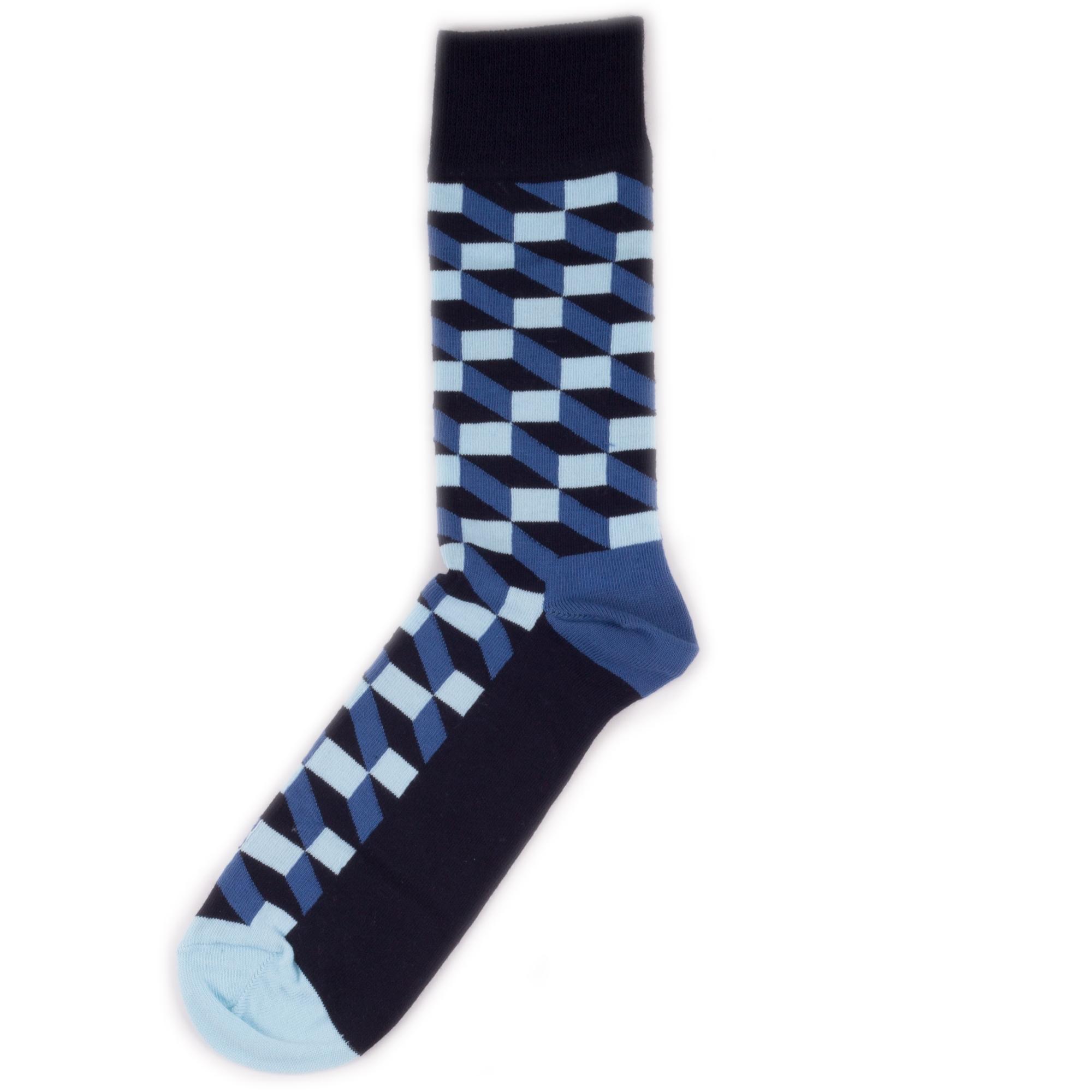 Носки унисекс Happy Socks Happy Socks Filled Optic - Black/Navy/Blue разноцветные 36-40