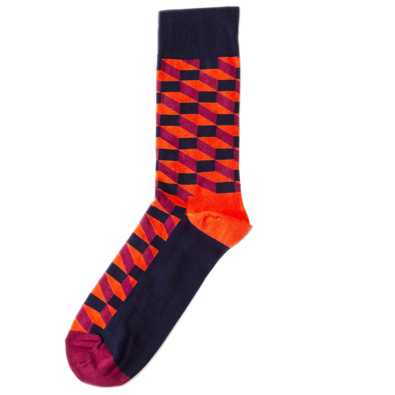 Носки унисекс Happy Socks Happy Socks Filled Optic - Black/Red разноцветные 36-40