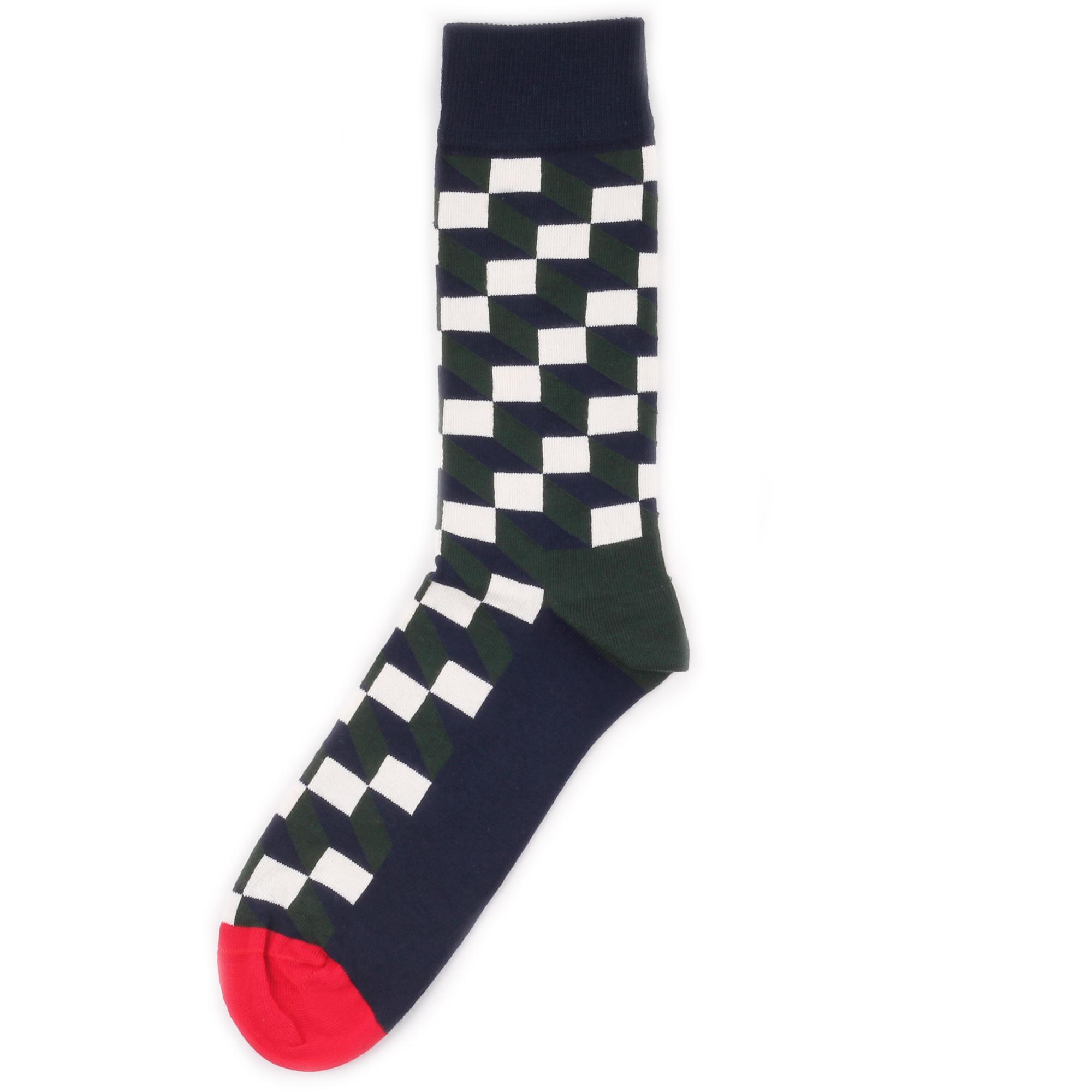 Носки унисекс Happy Socks Happy Socks Filled Optic - Dark Green разноцветные 36-40