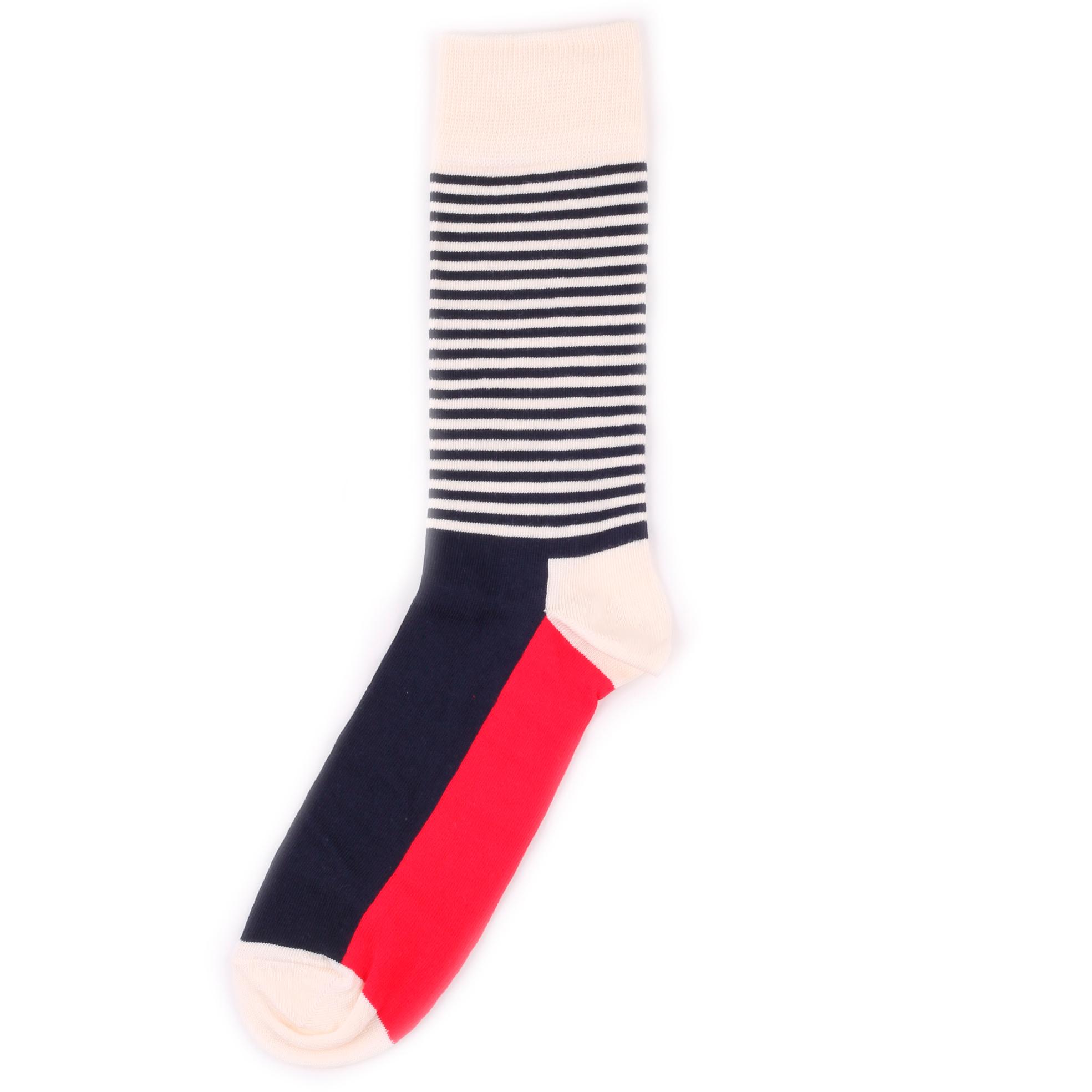 Носки унисекс Happy Socks Happy Socks Half Stripe - Red/White разноцветные 36-40