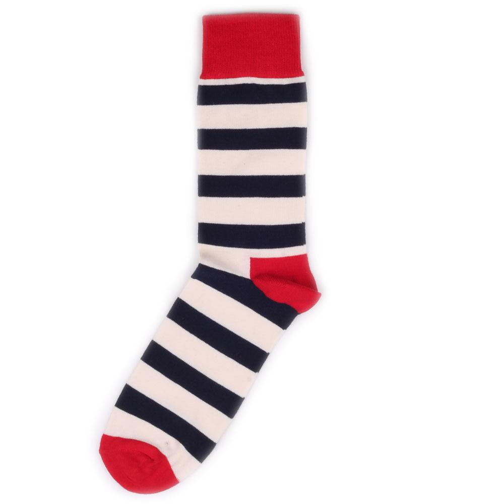 Носки унисекс Happy Socks Happy Socks Stripe - Red/Navy разноцветные 36-40