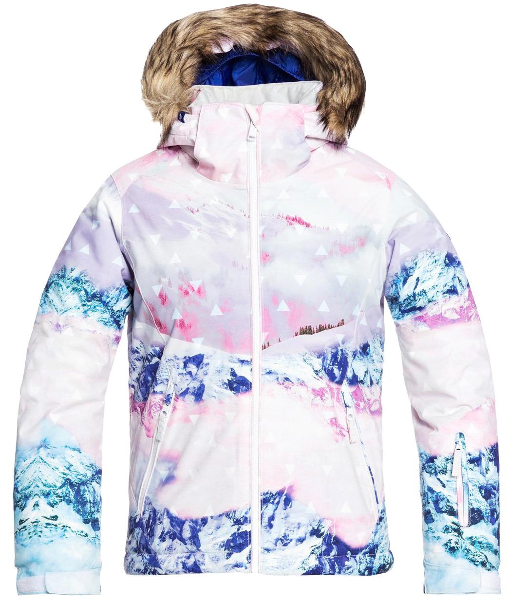Куртка Сноубордическая Roxy 2020-21 Jet Ski Se Bright White Pyrennes (Возраст:8)
