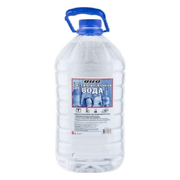 Вода дистиллированная ALFA, 5л ПЭТ бутылка