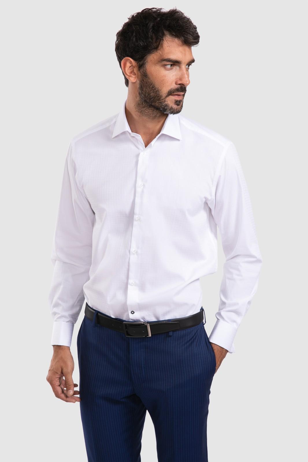 Рубашка мужская Kanzler 20W-SBL12RLSZ/01-1 белая 52-54 RU