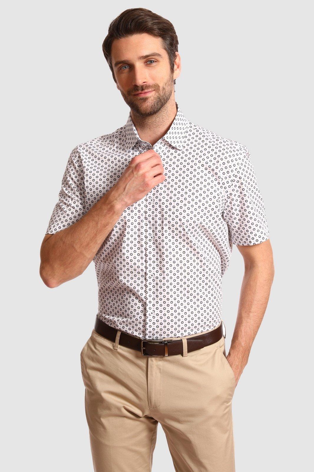 Рубашка мужская Kanzler 20S-SW15SSS/01-4 белая 46 RU