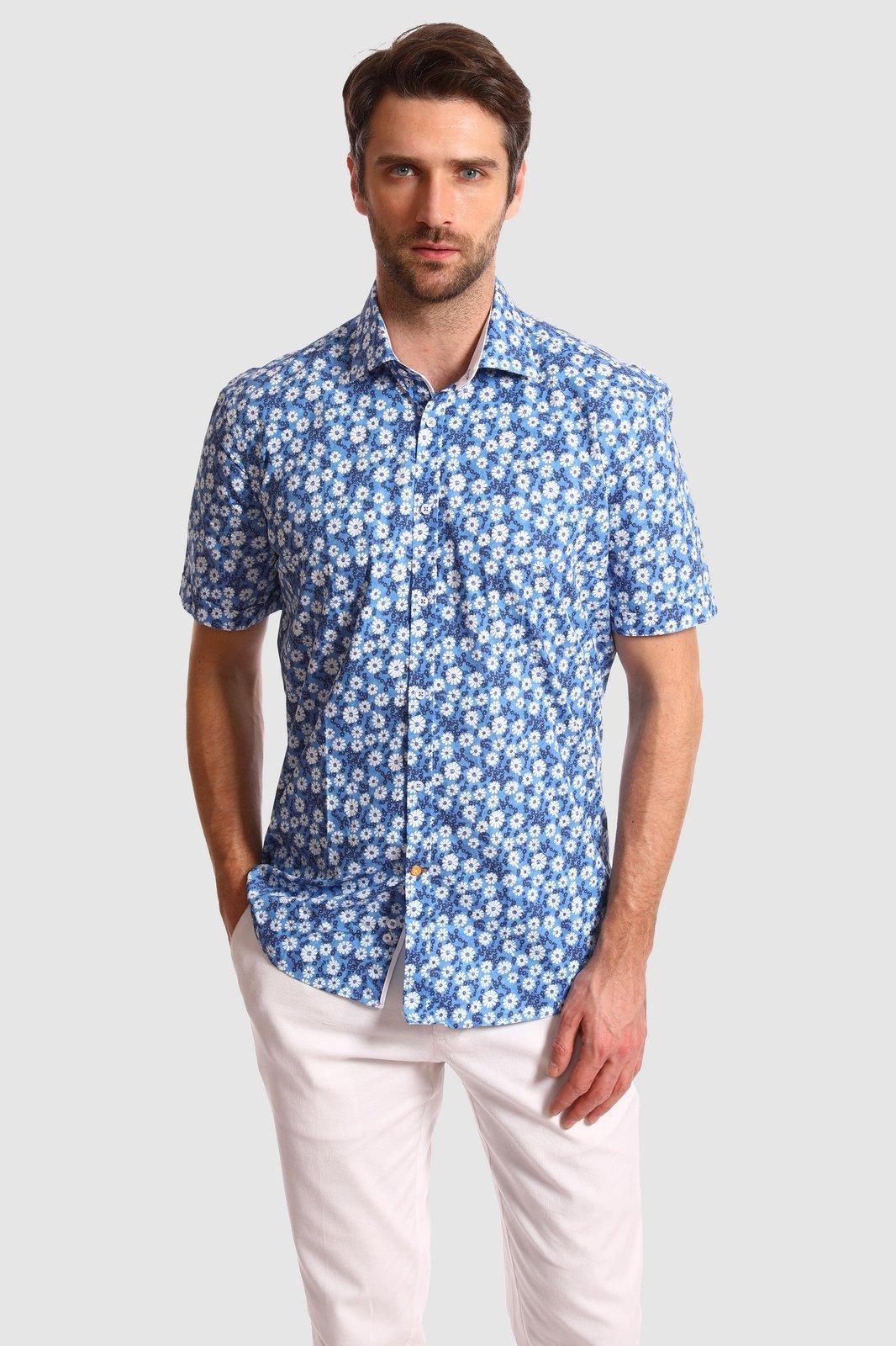 Рубашка мужская Kanzler 20S-SW11SSS/02-4 голубая 54 RU