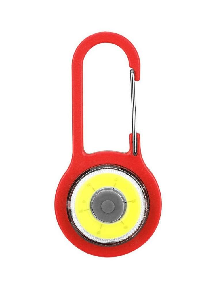 Светодиодный фонарик на рюкзак Карабин (Цвет: Красный  )