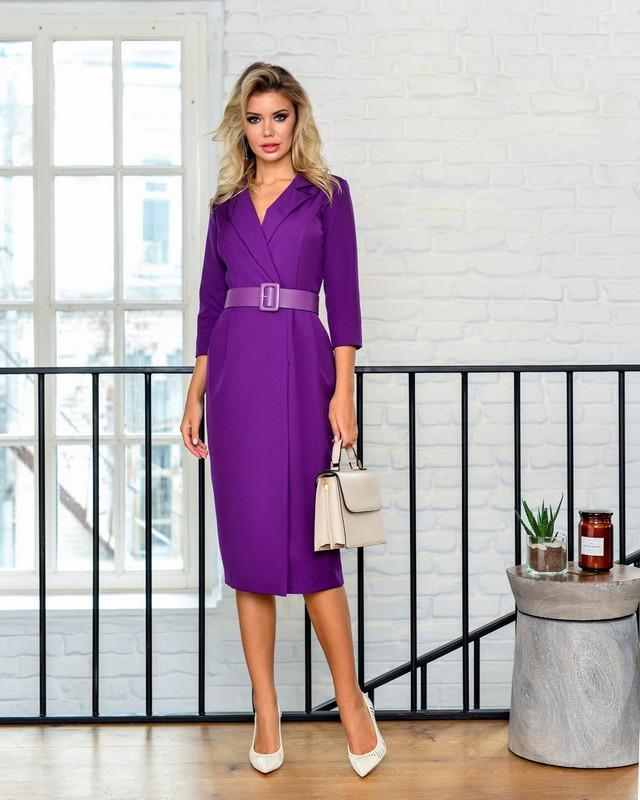 Платье женское BEZKO БП 2094-1 фиолетовое 52 RU