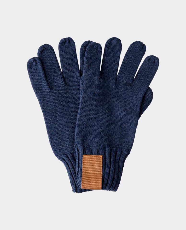 Синие перчатки вязаные Gulliver цв. синий 18