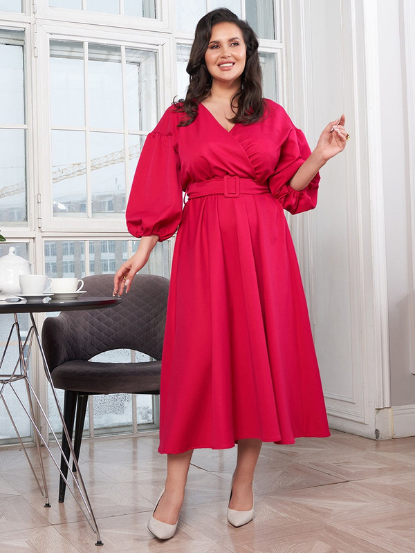 Платье женское Bordo БР 277 розовое 56 RU