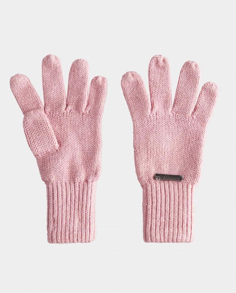 Розовые перчатки вязаные Gulliver цв. розовый 12