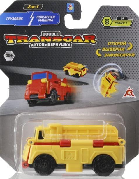 Автовывернушка 2 в 1 TransCar Double Грузовик-Пожарная машина 1 TOY